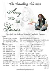 Away With The fairies tour poster